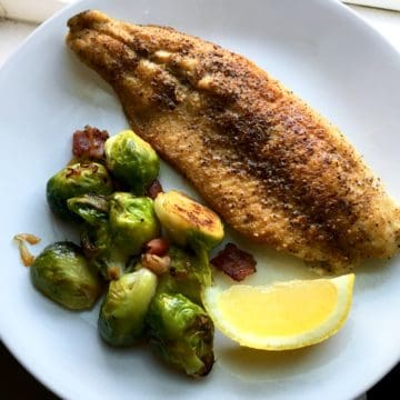 cast iron seared trout