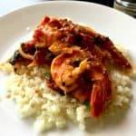 shrimp fra diavolo and cauliflower rice