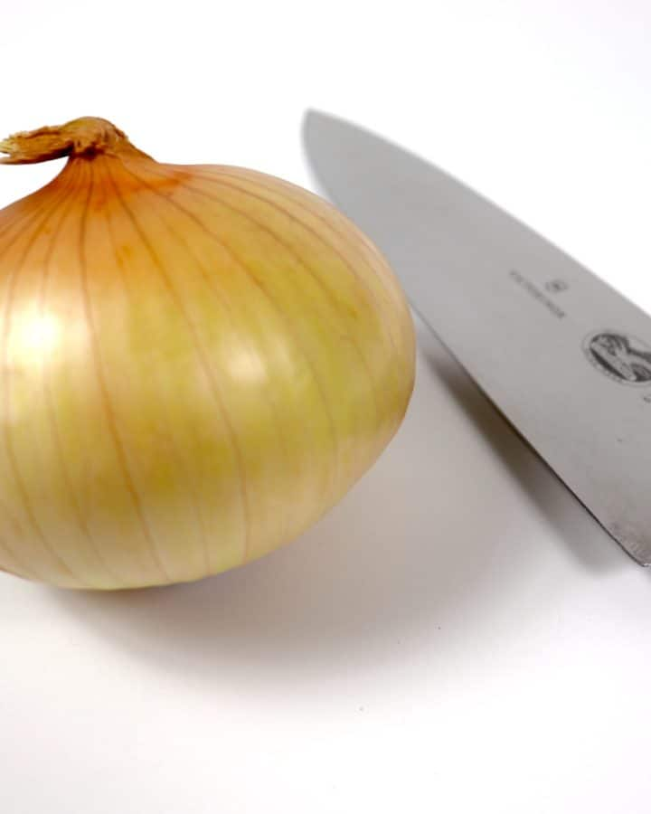 Onion and knife