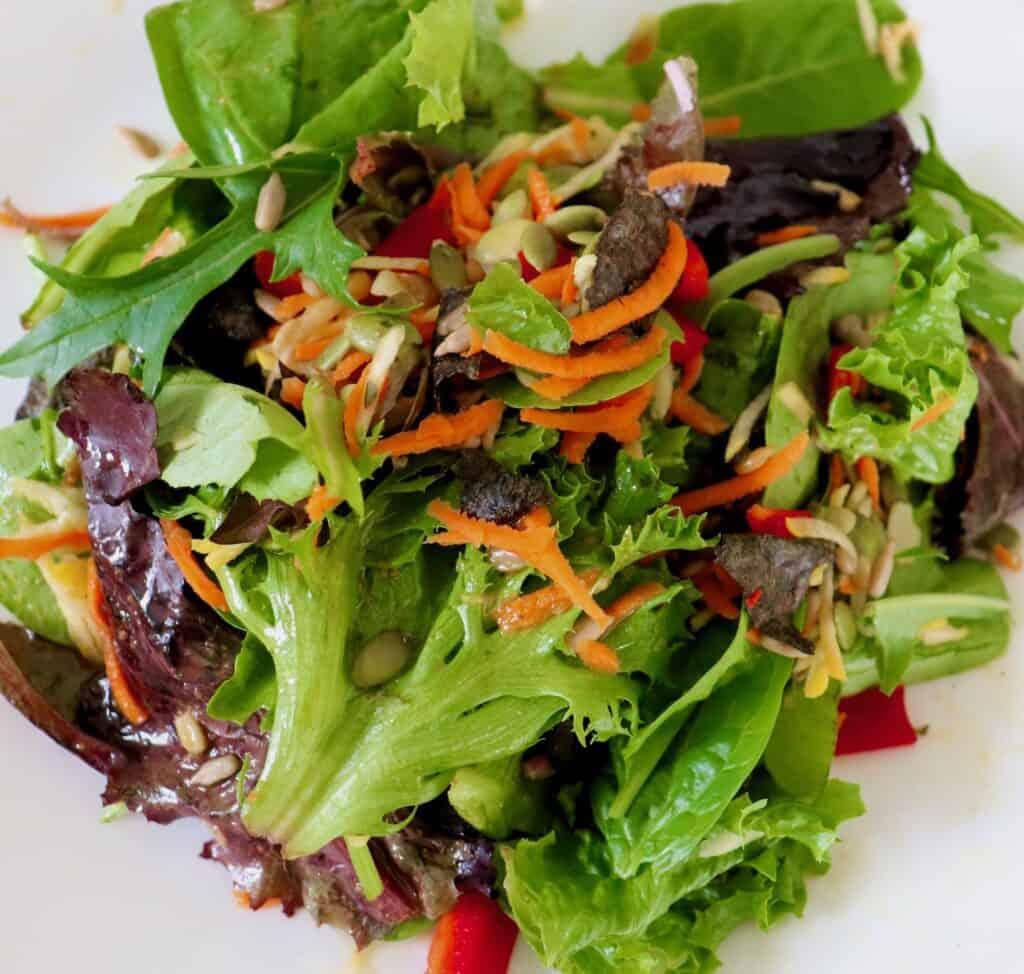 Mixed Greens Seaweed Salad Top
