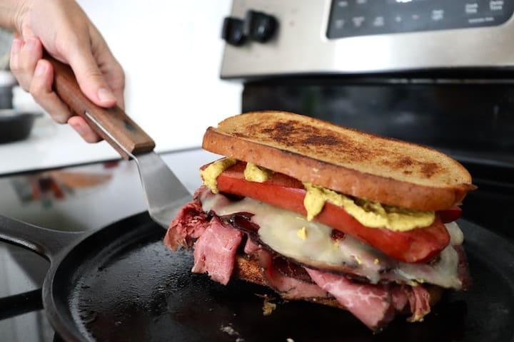 Flipping a sailor sandwich