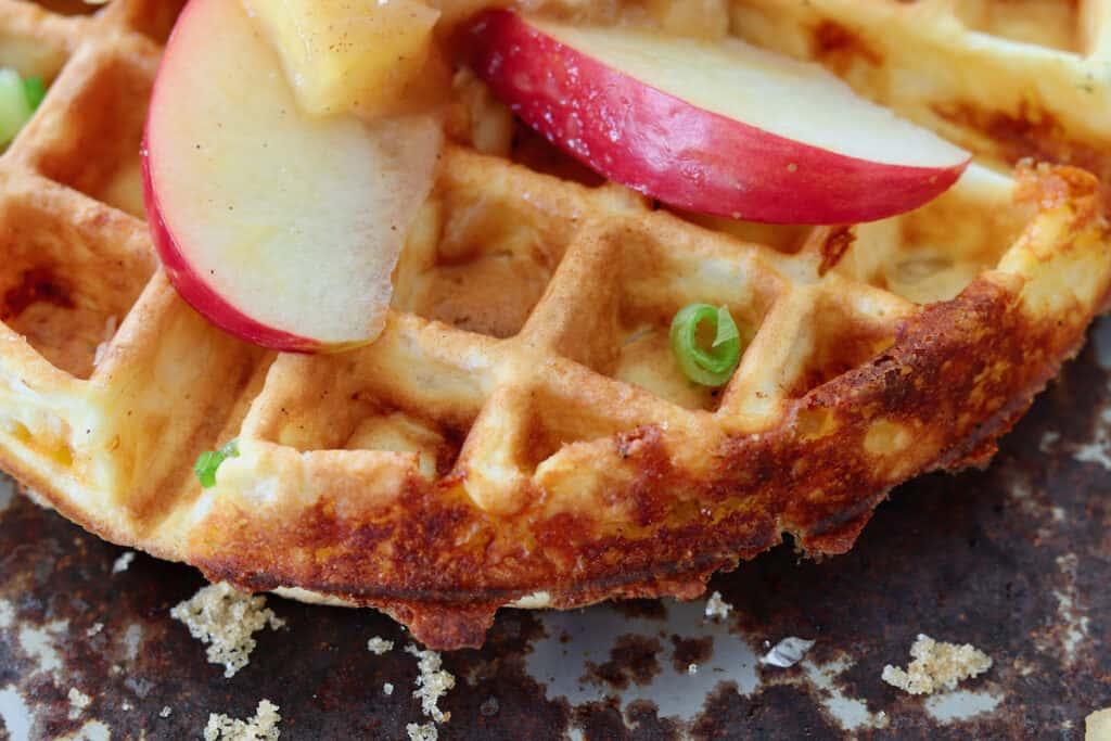waffles with crispy edges