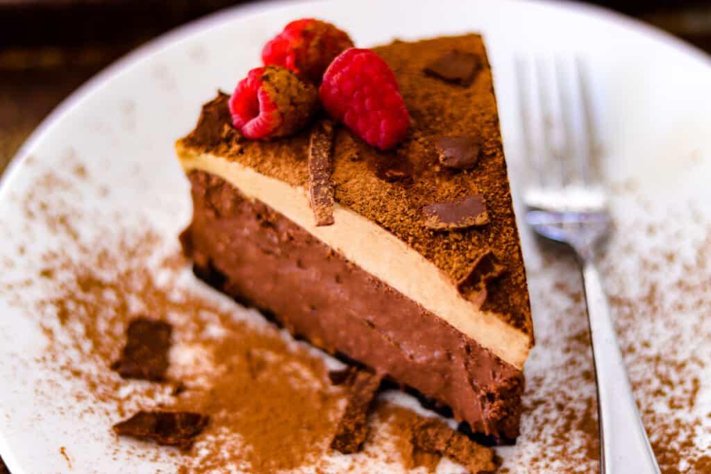 Double espresso chocolate cheesecake