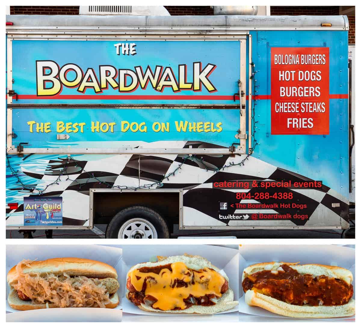 RVA food trucks: The Boardwalk food truck and hot dogs
