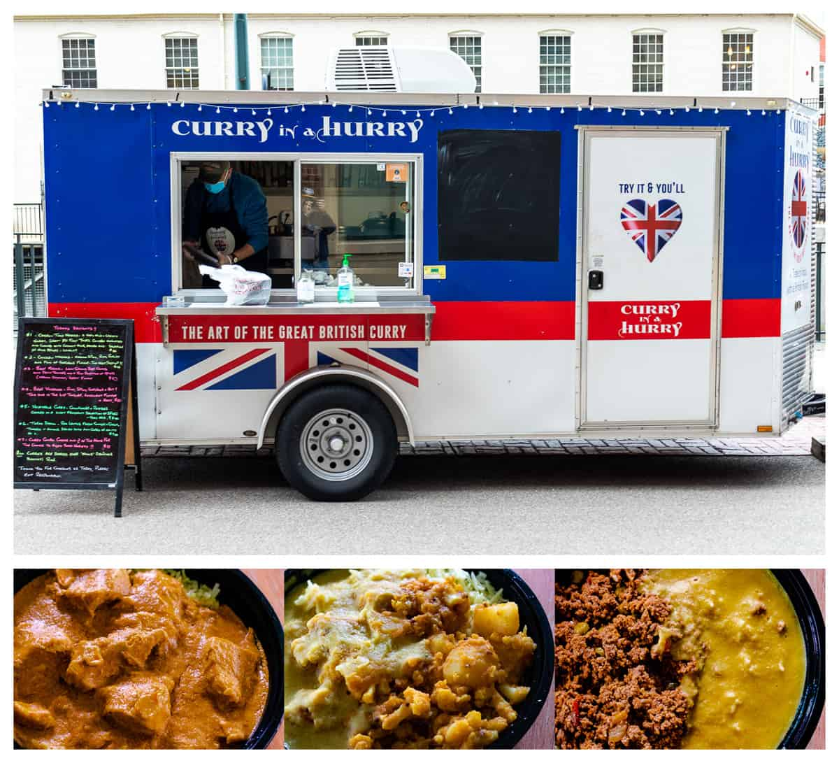 Curry in a Hurry food truck and curries