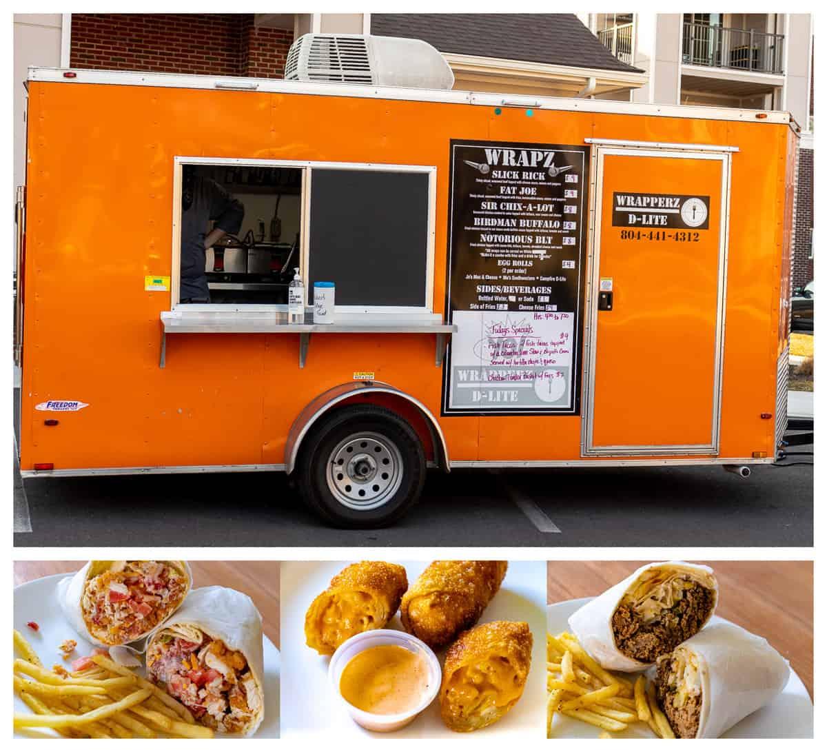 Richmond, VA food trucks: Wrapperz D-Lite food truck and menu items