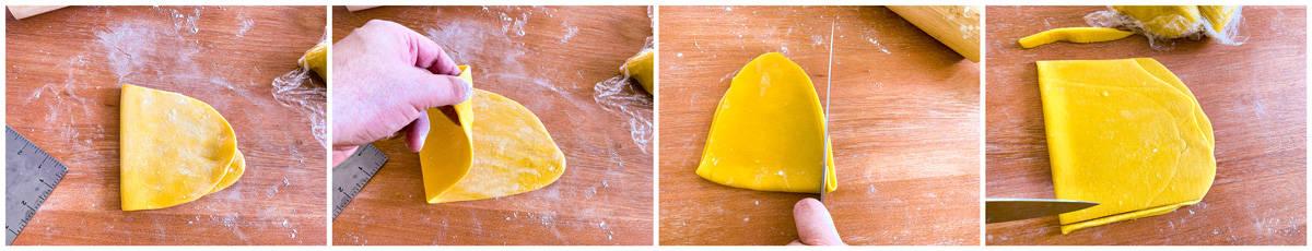 Laminating and squaring off the pasta dough