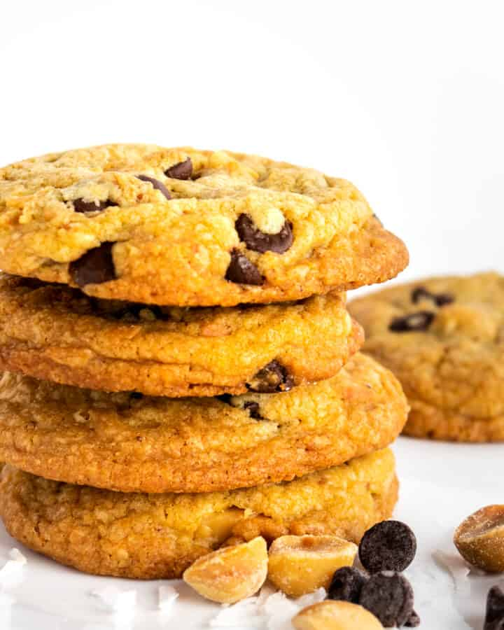 Brown Butter Chocolate Chip Cookies with Toasted Coconut and Macadamias