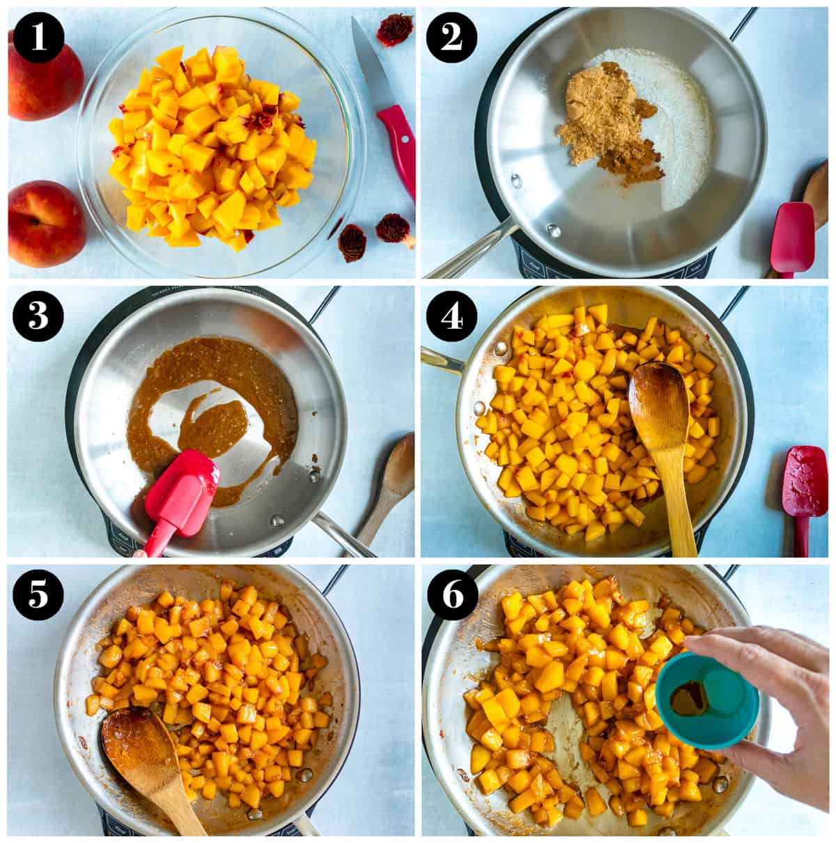 Step by step compote making process