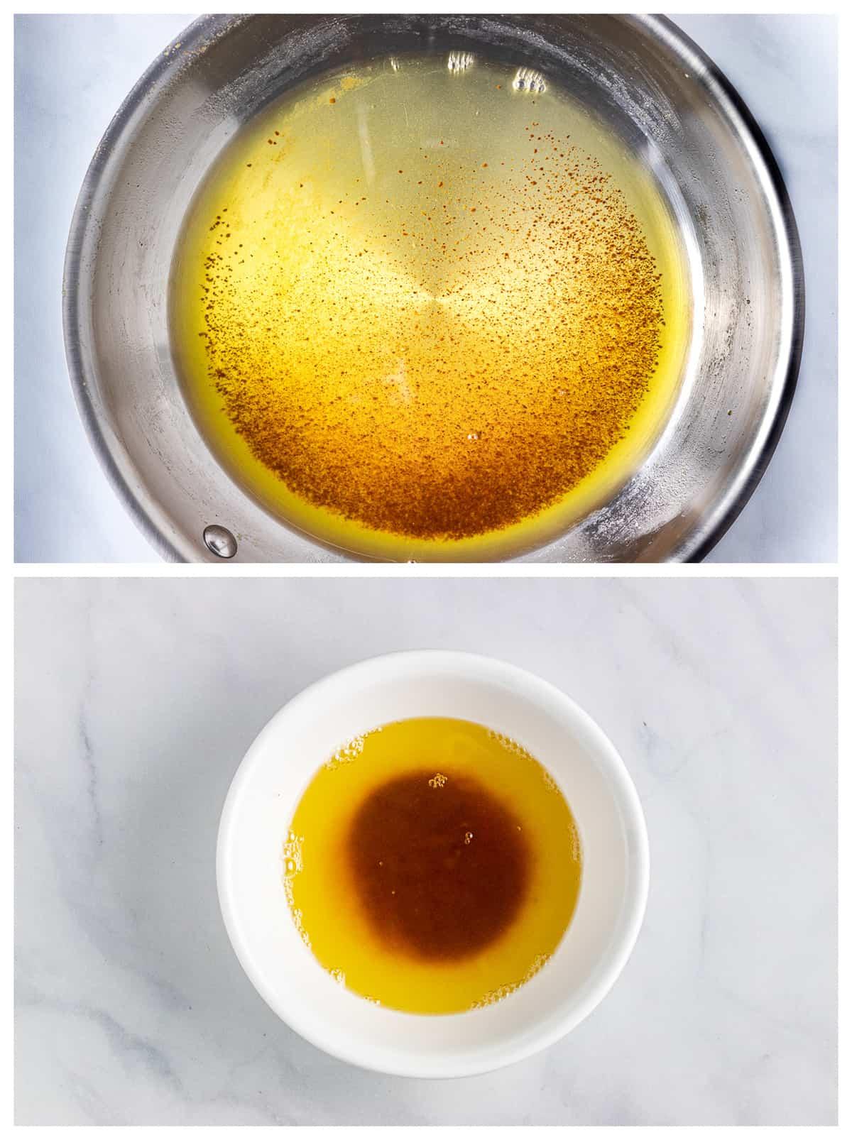 dark golden brown butter